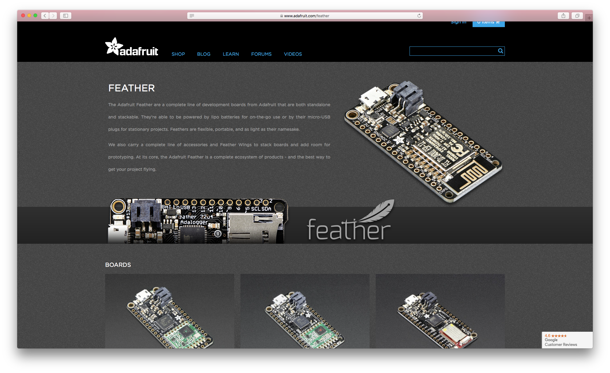 Great Dev Boards: An Ode to the Adafruit Feather M0 | Lyza com